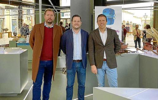 Josep Ramis, Miquel Cabot y Jorge Pérez durante la presentación de la Fira del Fang de Marratxí.