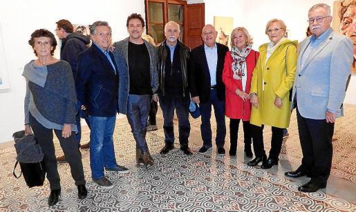 Mabel López, Nofre Ginard Simó, Salva Ginard, Jesús Casanova, Nofre Ginard, Vicenta Collado, Magdalena Ferrer y Eduardo Soriano.