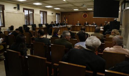 Un momento del juicio al juez Miquel Florit.