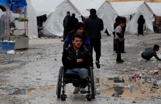 Imagen de un campo de desplazados por la guerra en la provincia siria de Idlib.