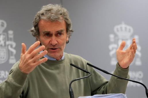 El director del Centro de Coordinación de Alertas y Emergencias Sanitarias, Fernando Simón, ha dado una rueda de prensa, este viernes en Madrid, para explicar lo tratado en la reunión diaria del Comité de Seguimiento del Coronavirus.