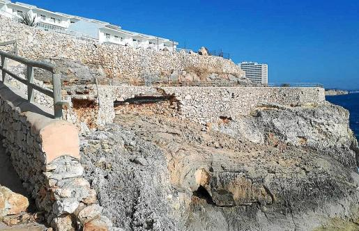 La borrasca 'Gloria' afectó gravemente la estructura del paseo de Calas de Mallorca.