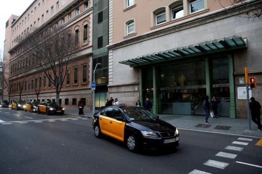 Entrada principal del Hospital Clínic de Barcelona.