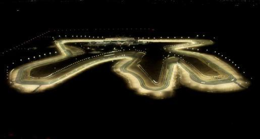 Imagen aérez del circuito de Losail, escenario del Gran Premio de Catar.