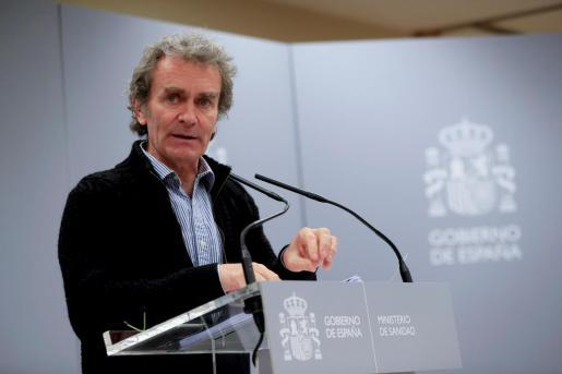 El director del Centro de Coordinación de Alertas y Emergencias Sanitarias, Fernando Simón, comparece, este lunes en Madrid.