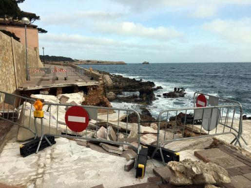 La borrasca 'Gloria' causó daños muy importantes en Cala Rajada.