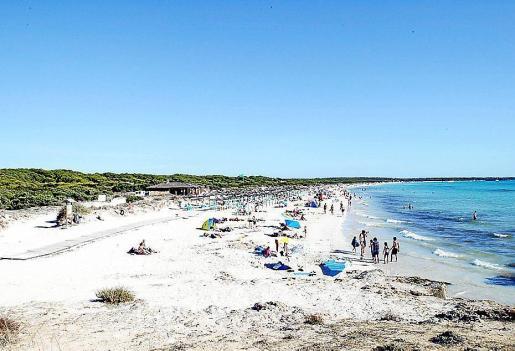 Imagen de la playa de es Trenc, en el municipio de Campos.