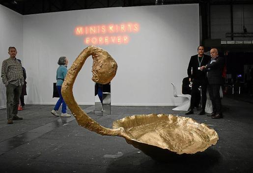 Pieza de la artista Susy Gómez, en el estand de la galería Horrach Moyà.