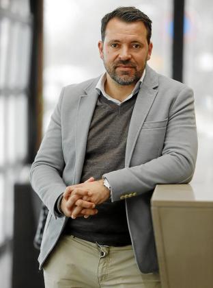 José Tirado, director general del Palma Futsal, posa para este diario.