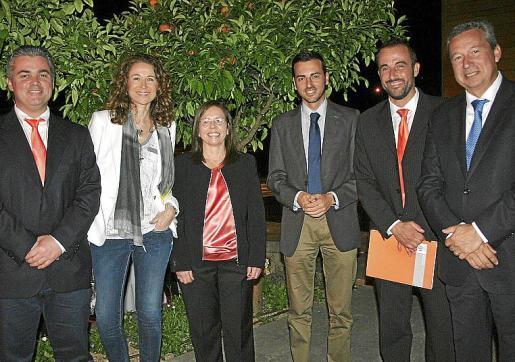 Juanjo Galmés, Joana Pons, Laura Oliver, Javier Morente, José Luis Mateo y Josep Aloy.