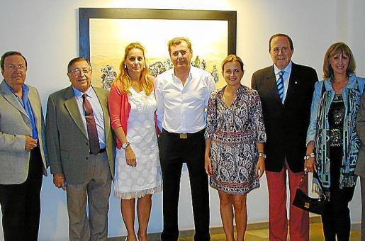 Antonio Garau, Paco Frau, Rosa Vanrell, Gaspar Ballester, Gari Durán, José María Rodríguez y Cati Fullana.