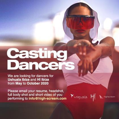 Cartel promocional del casting.