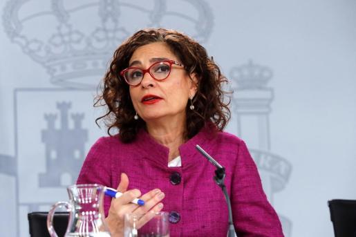 La portavoz del Gobierno y ministra de Hacienda, Maria Jesús Montero.