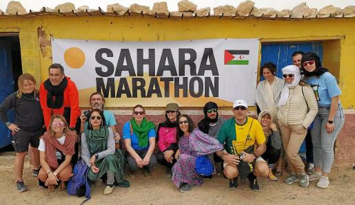 Imagen del grupo de ciudadanos de Baleares que participaron en las diversas carreras para dar visibilidad al problema de los refugiados del Sáhara.