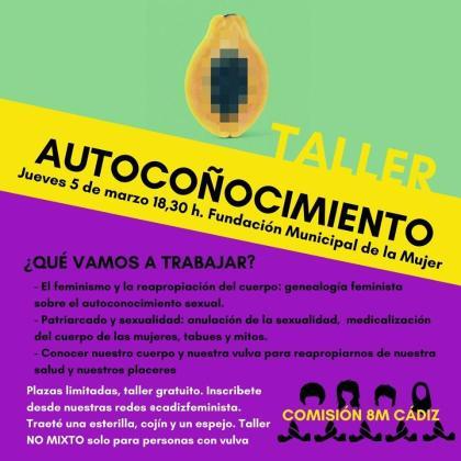 Cartel del taller de 'autocoñocimiento'.
