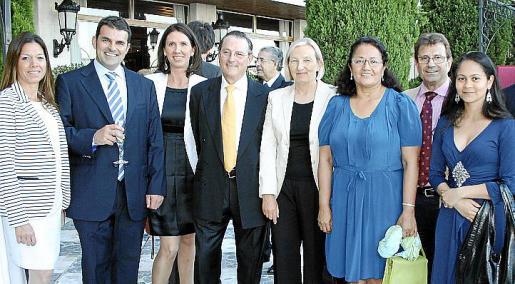 Cristina Vivancos, Carlos Anglada, Nathalia Rigo, Manuel Montis, Sari Keinanen, Grace García, Llorenç Huguet y Esther Arias.