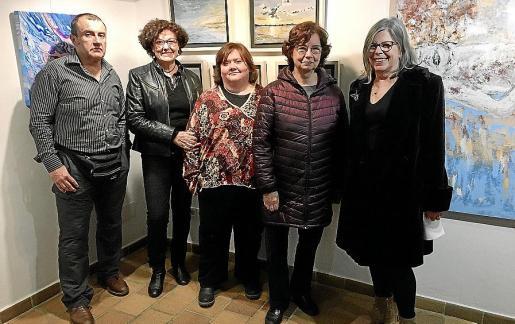 Miquel Àngel Bernat, Francisca Llabrés, Amalia Izquierdo, Francisca Alba y Vivienne Cullingworth.