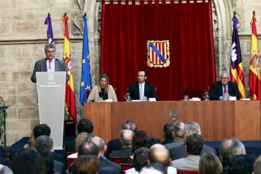El actual presidente del Congreso, Jesús Posada, durante el acto de homenaje a Félix Pons.