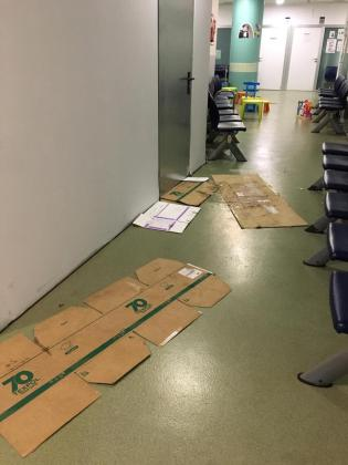 La zona de pediatría del centro de salud de Pere Garau es una de las más afectadas por las filtraciones.