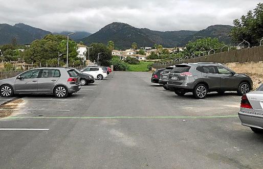 Delimitación de la parte ilegal de uno de los aparcamientos en Campanet.