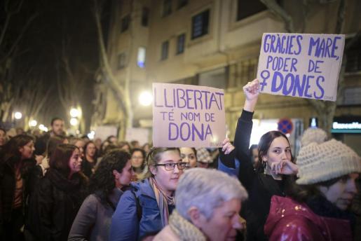 Imagen de archivo de la manifestación por el Día de la Mujer celebrada en Palma el año 2018.