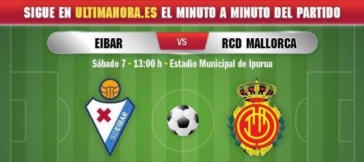 El Mallorca visita este sábado Ipurua para buscar ante el Eibar la primera victoria fuera de Son Moix esta temporada.