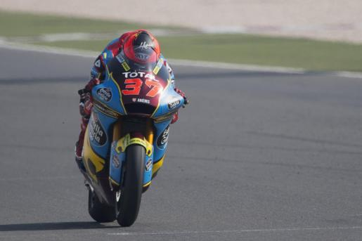 El piloto mallorquín Augusto Fernández (Kalex), durante los entrenamientos del Gran Premio de Catar de Moto2.