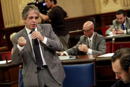 Rafael Bosch, durante el pleno del Parlament.