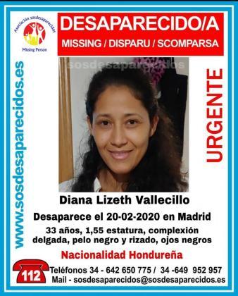 SOS Desaparecidos ha alertado de la desaparición de una joven de 33 años.