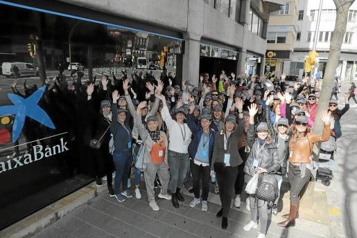 Las participantes de la Global Mentoring Walk, antes de iniciar la caminata por las calles de Palma.