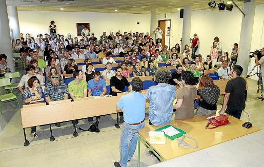 La asamblea de docentes se celebró en la tarde de ayer en el IES de Marratxí.