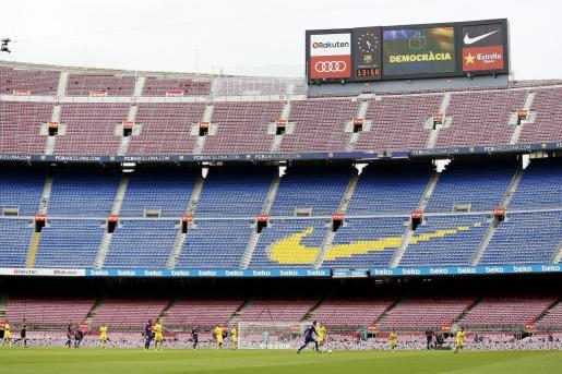 En 2017, el Barcelona y Las Palmas se disputó en el Camp Nou a puerta cerrada, tras los acontecimientos del 1 de octubre.