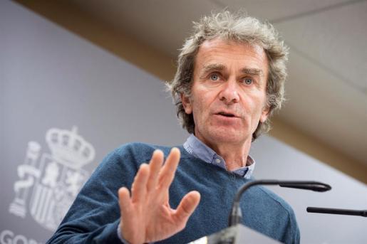 Salvador Simón, este lunes en rueda de prensa para ofrecer los nuevos datos del coronavirus en España.