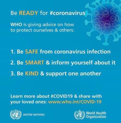 La OMS utiliza las redes sociales para dar consejos sobre el coronavirus.