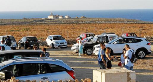 Imagen de archivo del aparcamiento de Punta Nati.