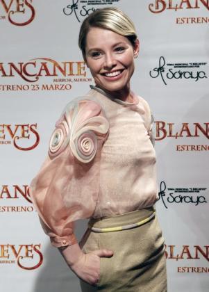 """La cantante extremeña Soraya Arnelas durante la presentación del videoclip """"I belive""""."""