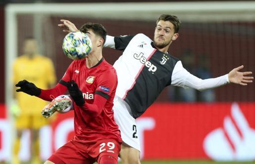 Daniele Rugani durante un partido.