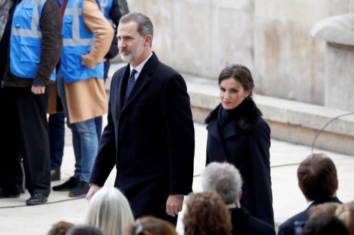 El rey Felipe y la reina Letizia en el acto con motivo del Día Europeo de las Víctimas del Terrorismo.
