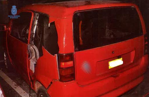Imagen de un vehículo robado.