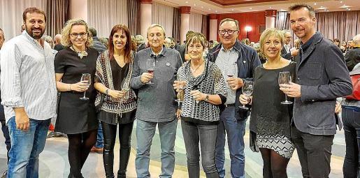 Joan Moyà, Coloma Fullana, Bel Moyà, Biel Moyà, Margalida Caballero, Sebastià Moyà, Margalida Canet y Joan Moyà.
