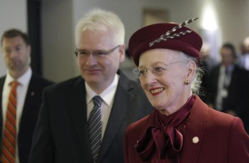 La reina Margarita II de Dinamarca.