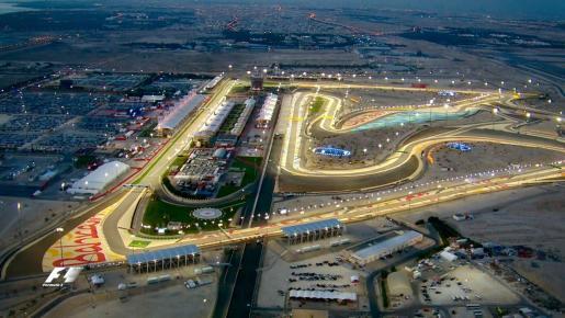 Imagen aérea del circuito de Sakhir, escenario del Gran Premio de Baréin.
