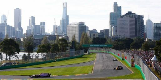 Panorámica del circuito de Albert Park, en Melbourne.
