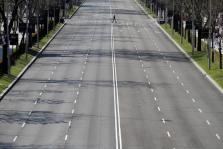 Calles vacías en Madrid