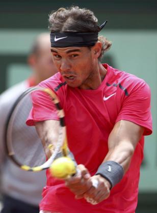 Nadal, durante el partido que le ha enfrentado a David Ferrer en semifinales de Roland Garros.