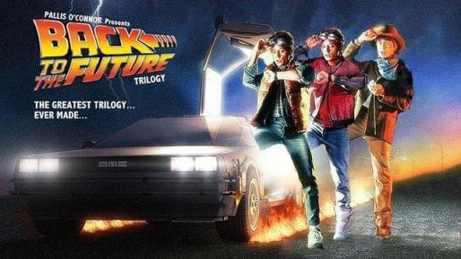 Imagen del cartel de la trilogía 'Regreso al futuro'.