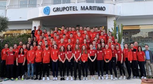 Imagen de la expedición de la selección alemana de ciclismo concentrada estos días en Mallorca.
