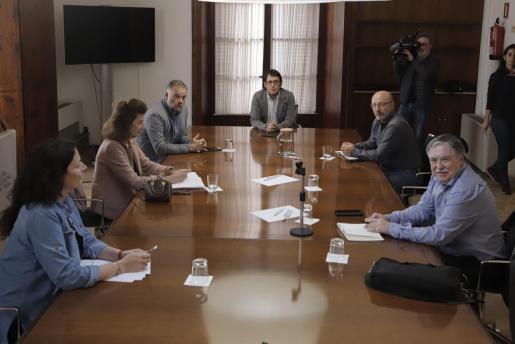 Imagen de la reunión de este domingo.