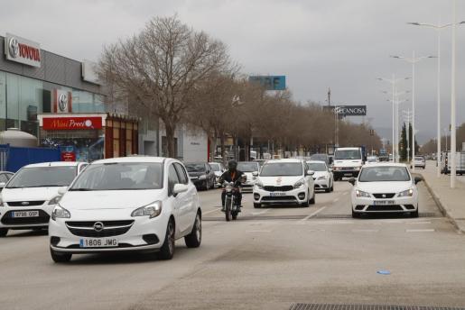 Las calles del polígono de Son Castelló en el segundo día de confinamiento.