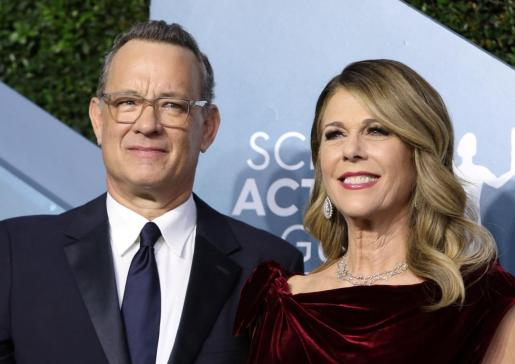 El actor estadounidense Tom Hanks y su esposa, Rita Wilson.
